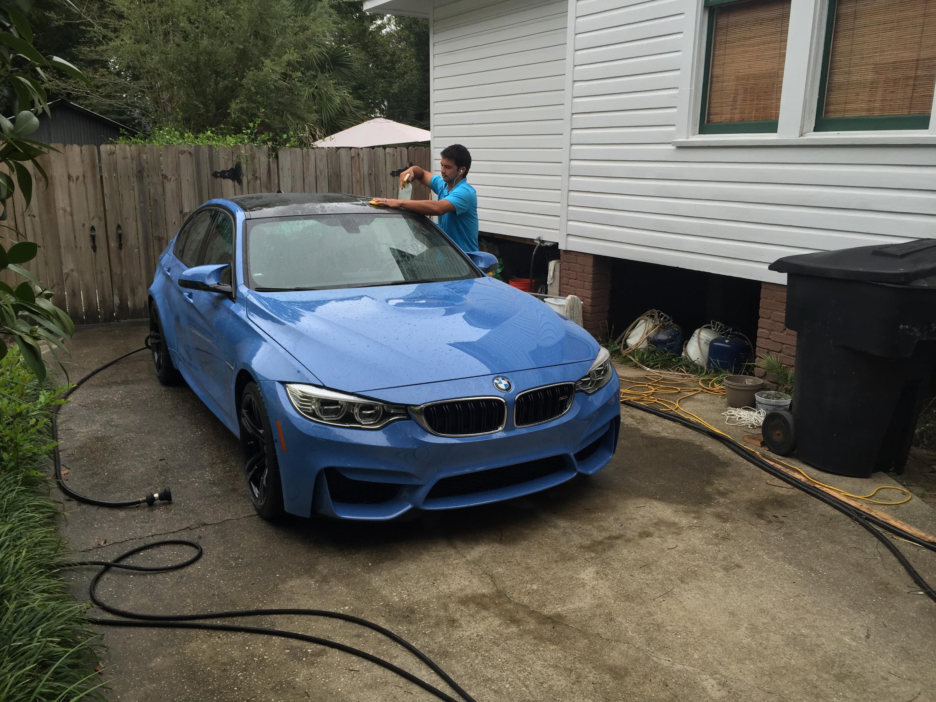 BMW M OptiCoat Treatment Pensacola Auto SpaPensacola Auto Spa - Blue bmw m3